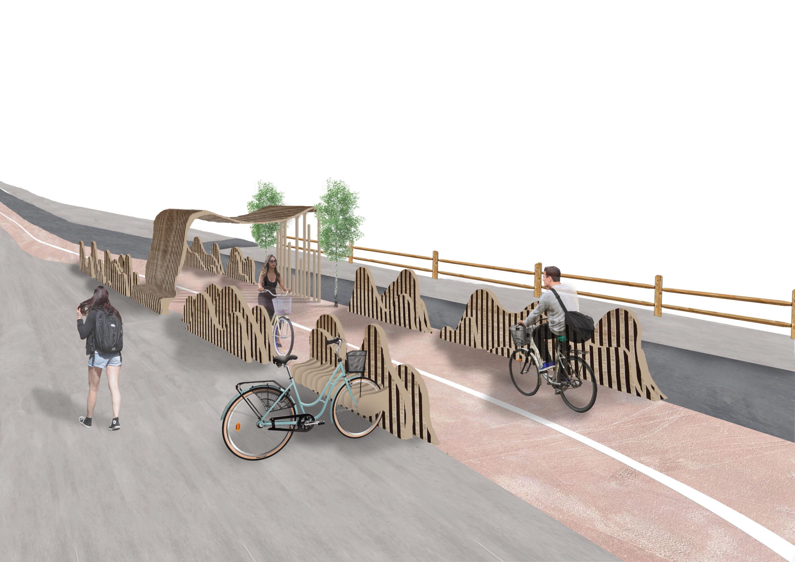 Modern cykelväg